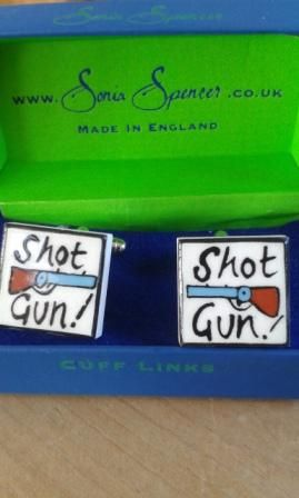 Sonia Spencer Bone China Shotgun Cufflinks