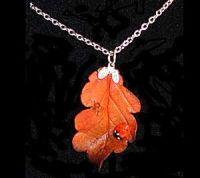 Oak Leaf Ladybird Pendant